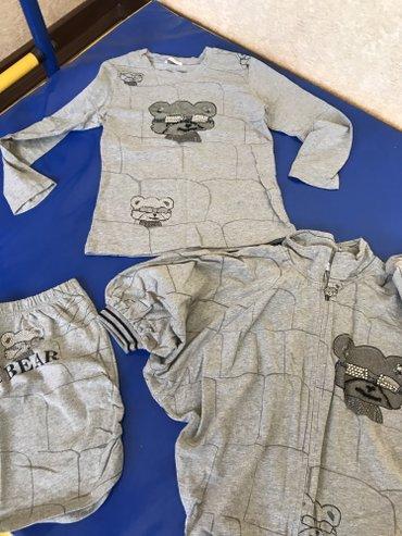 Шикарный корейский костюм тройка! Юбочка! Футболка и кофта накидка лет в Бишкек