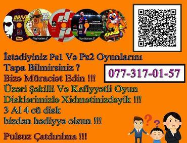 sega oyun kasetleri - Azərbaycan: Ps1 Və Ps2 Üçün.Üzəri Şəkilli Və Yeni Oyun Diskləri.3 oyun diski alana
