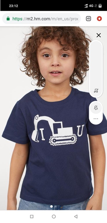футболка 3 года в Кыргызстан: Hm из Америки, новая х/б футболка на 3-4 года