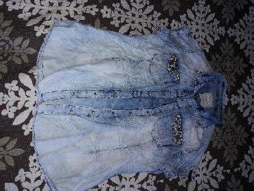 джинсовая жилетка женская в Кыргызстан: Блузка Джинсовая тонкая оригинал Турция