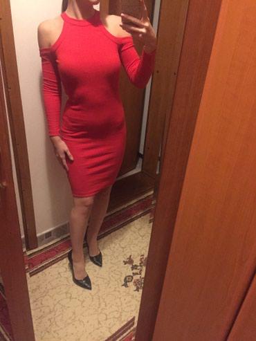 Crvena plisana haljina - Srbija: NOVA pamucna crvena haljina, univeralna, sa golim ramenima!