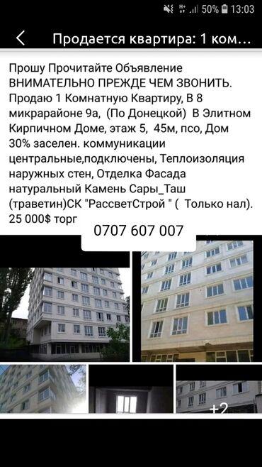 Продажа, покупка квартир в Ак-Джол: Продается квартира: 1 комната, 40 кв. м