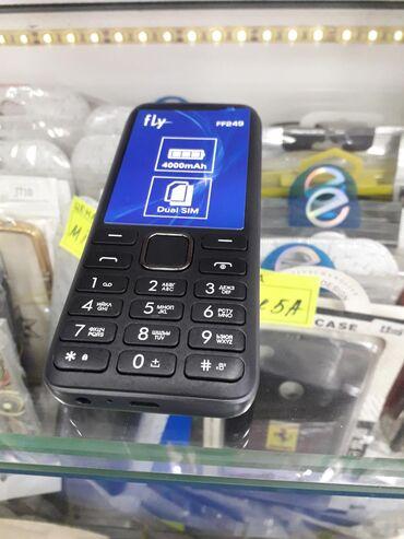 телефон-fly-e в Кыргызстан: Новый Fly ff249 2х симочный. Батарейка 4000mah хватит на 10дней