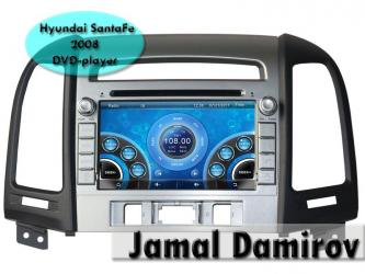 Bakı şəhərində Hyundai santafe 2006-2012 üçün dvd-monitor. Dvd-монитор