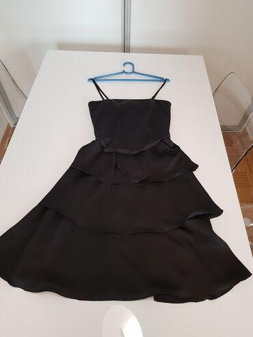 Vera Mont crna haljina sa karnerima vel.xs nosena jednom