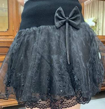 юбки из плотного трикотажа в Кыргызстан: Мини юбка из эко кожи, шифон, бусины, трикотаж, новая, размер 44-46
