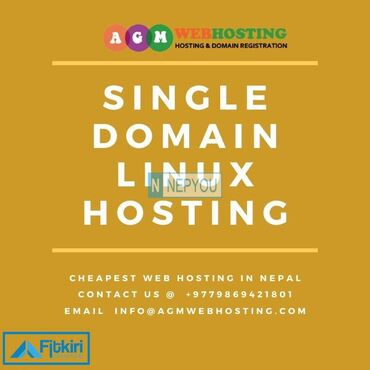 AGM Web Hosting Services provides single linux hosting at just for N