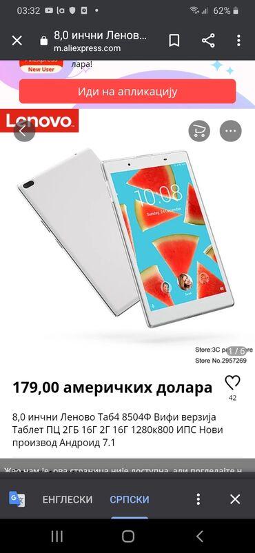 Lenovo a2010 - Srbija: Vrhunski ORIGINAL LENOVO kompjuter PC TABLET-TELEFON TAB4 8 INČA!!!