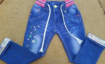 джинсы на девочку в идеальном состоянии, на 4-5 лет, длина без подворо в Бишкек - фото 2