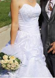 свадебное украшения в Кыргызстан: Девчонки, продаю красивое счастливое свадебное платье. Надевала естест