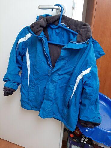 Plac - Srbija: Crane zimska jakna 122/128 plave boje, neostecena, nepromociva, sa