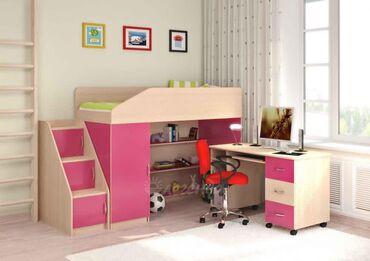 Продаю практически новую детскую кроватку со столом и шкафчиками, в эк