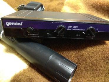 акустические-системы-archeer-с-микрофоном в Кыргызстан: Радиомикрофон Gemini vhf 2001,в комплекте только один микрофон,база и