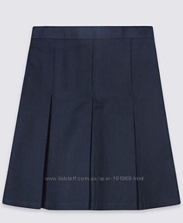 Детский мир - Кок-Джар: Школьная синяя юбка 7-8 лет бренд M&S Спенсер Англия