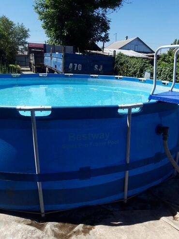 Каркасный бассейн. Для детей и взрослых. Насос с фильтром. Скимер