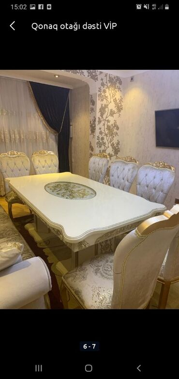 Stol stul dəsti türkiyə istehsalı baha alınıb 1800 azn satılır ünvan