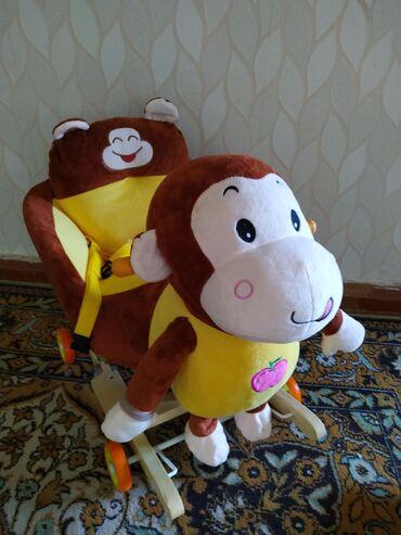купить качалку детскую в Кыргызстан: Продаю каталку-качалку.  Пользовались мало. Идеальное состояние. Минит
