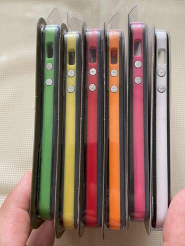"""Mobil telefon və aksesuarlar - Azərbaycan: """"Apple iPhone 5/5S/SE"""" üçün bumper-ler.6 reng, 6 eded.Tezedir.1 eded -"""