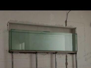 Аквариумы - Кыргызстан: Продаю аквариум встраиваемый 200/65/30 полностью автономный   можем по