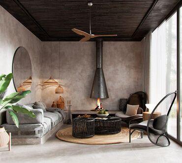 Дизайн интерьера загородного дома Бесплатно!Строительная компания ОсОО