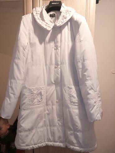 Белая Деми куртка,в отличном состоянии,размер с,м