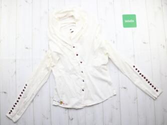 Крутая женская блуза рубашка с капюшоном Forza viva,р.M Длина: 42 см