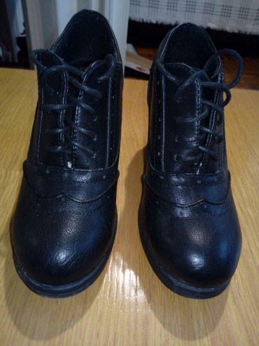 Ženska obuća | Obrenovac: Crne cipele na platformu, jednom obuvene. 37 broj. platforma 8 cm