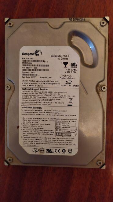 Продается жёсткий диск 80 гб для компа без кабеля