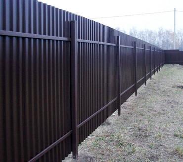 Забор коебуз. Забор из простофиля. Надежно и качественно, опыт более 1