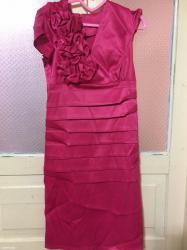 Нежное,малиновое платье,размер-46,новое в Сокулук