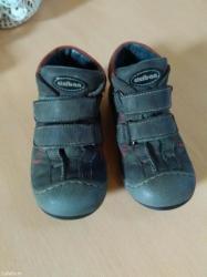 Bez cipele - Srbija: Ocuvane kozne cicibanove cipele za decaka broj 27 bez ostecenja