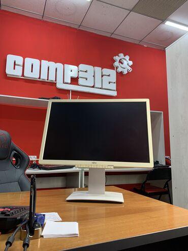 Мониторы - Кыргызстан: Монитор Fujitsu 22 дюйма.Цвет: белый.Крутая яркая матрица.Есть:DVI VGA