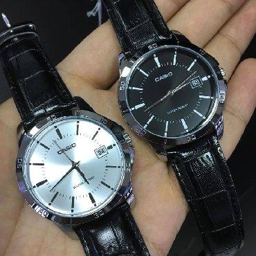 бренды классической мужской одежды в Кыргызстан: Черные Мужские Наручные часы Casio