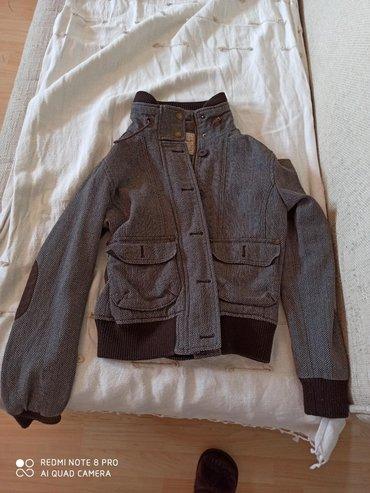 Zenski stofani vuneni mantic tsmno braon - Srbija: Springfild zenska jakna. Vel S/M. prolece/jesen. Braon boja. Ocuvana