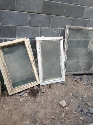 Окна деревянные - Кыргызстан: Продаю ЭКО окна, рамы деревянные, самовывоз