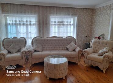 Taclı divan kreslolar 4 döşəkçəli dözümlü və keyfiyyətli divan