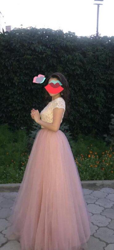 топ без лямок в Кыргызстан: Юбка и топ, смотрится как платье. Одели на 2 часа, на выпускной. Мож