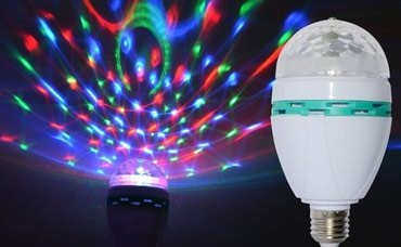 LED RGB rotirajuća sijalica E27, Disco Led Sijalica - Belgrade