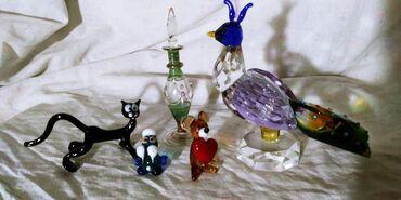 бутылочка в Кыргызстан: Стеклянные подарки. ( сделано из стекла, миниатюры, всё целое )