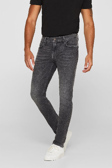 Esprit-farmerke-sirina-duzina - Srbija: ESPRIT skinny fit farmerke, sive boje, organic, W36 L36-NOVOESPRIT