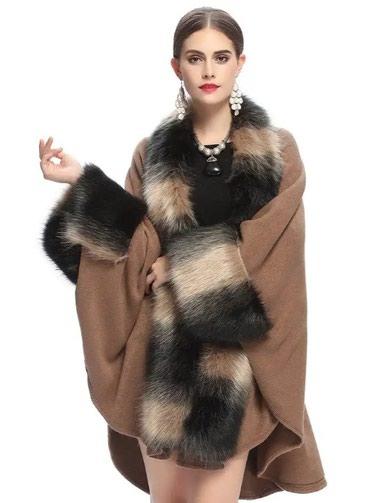 Шаль теплый с мехом только на заказ в Бишкек