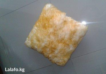 Подушка меховая для интерьера цвет рыжий, размер 40 см х 40 см в Бишкек