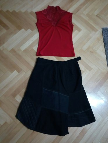 Obim-grudcm-duzina-cm - Srbija: Suknja br. 42, duzina 64 cm, sirina 51 cm, obim struka 84 cm .390