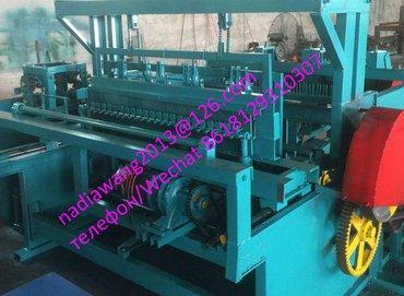 станок для производства сетки рабица в Кыргызстан: Полуавтоматический станок для производства металлической рифленой