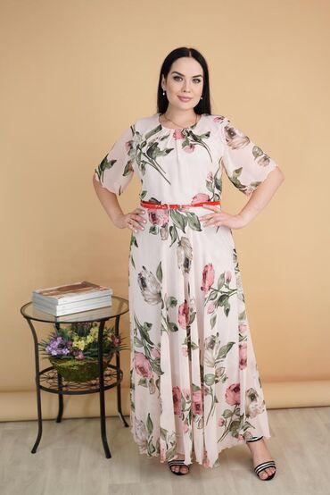 Платья шифоновыеВ 3-х расцветкахРазмеры: 48-54.Цена: 850 сом