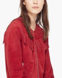 Jakna kozna crvena - Srbija: Ženske jakne Mango S