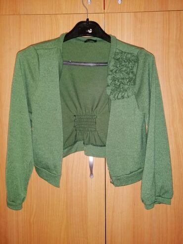 Zeleni dzemper i haljina BALEXTRA, komplet 700 din, samo dzemper 300