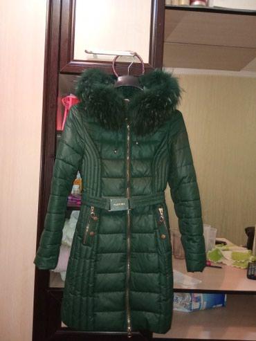 Куртка зима,чуть выше колен,цвет в Бишкек