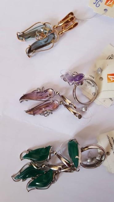 Комплект серебро 925 с камнем из в Бишкек