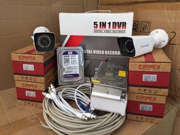 Dvr 4 port 2mp hdd 500 (sert disk ) camera 1 mp 4 əd  adapter 12 v 15